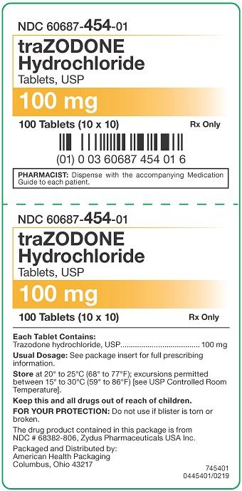 100 mg Trazodone HCl Tablets Carton