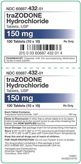 150 mg Trazodone HCl Tablets Carton