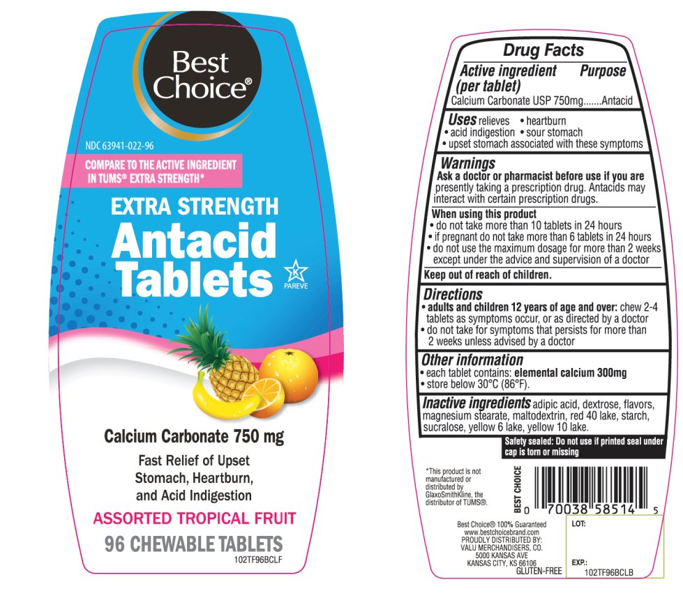 Best Choice Antacid Tablets Extra Strength 96 Chewable tablets