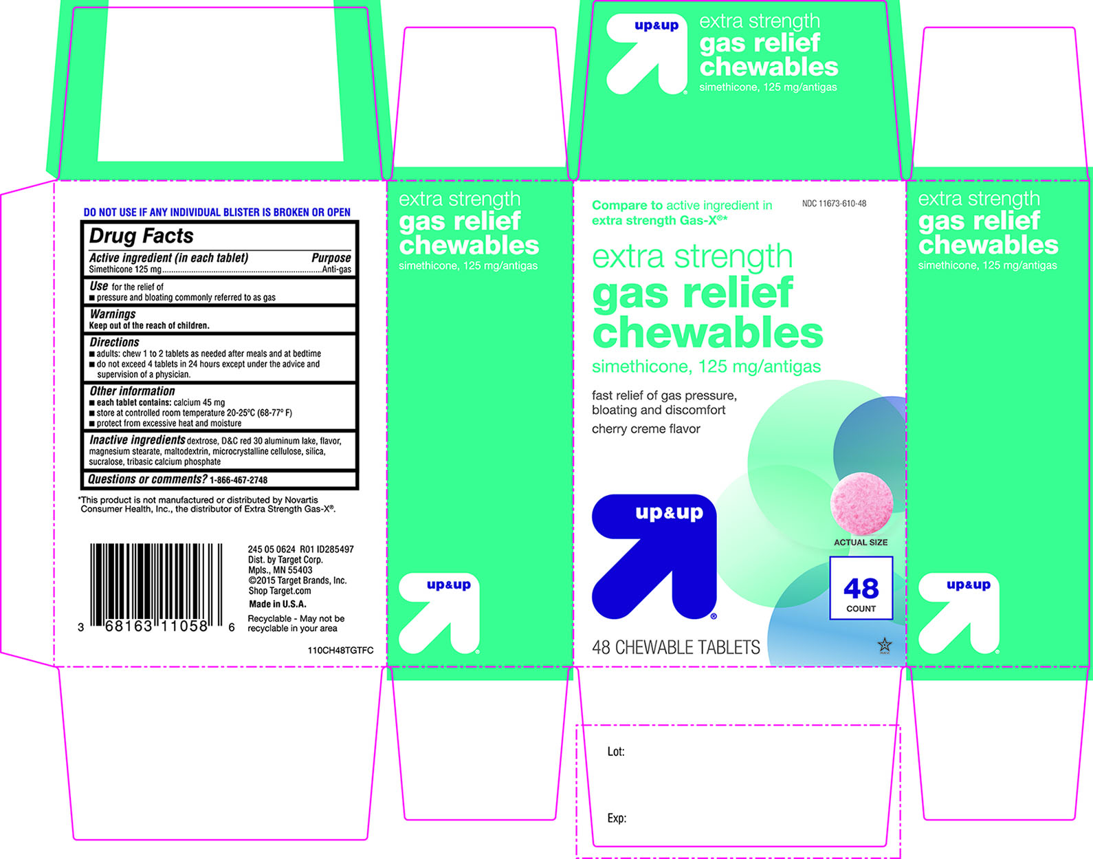 up and up extra strength gas relief chewables
