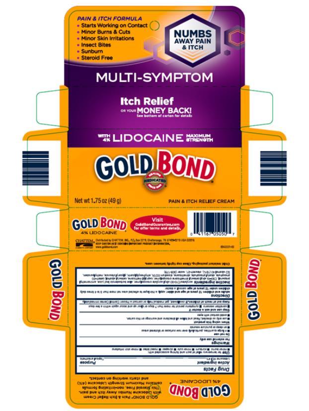 PRINCIPAL DISPLAY PANEL GoldBond Pain & Itch Relief Cream Net Wt 1.75 oz (49g)