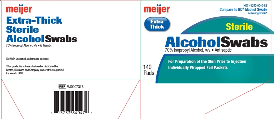 Meijer Extra Thick Sterile Alcohol Swabs box