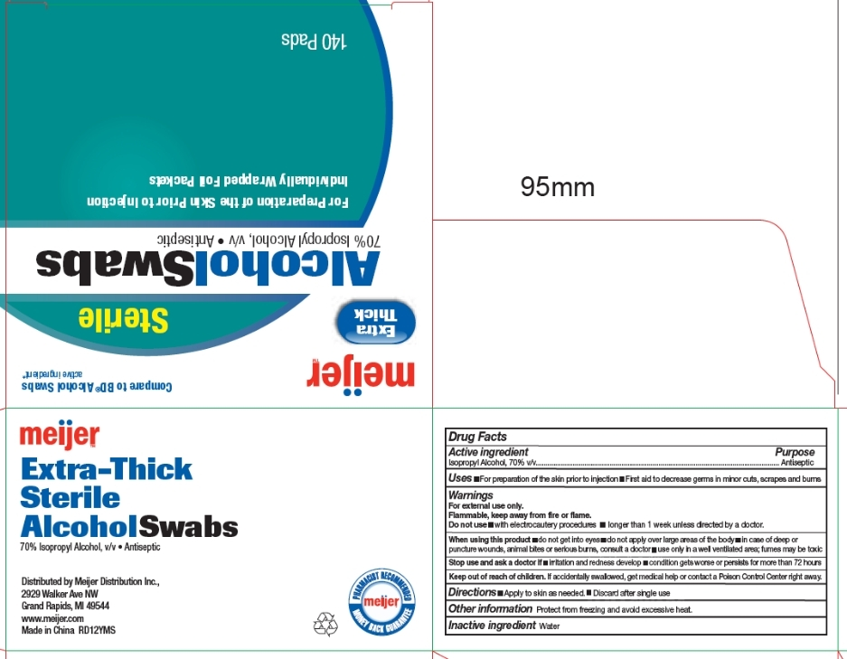 Meijer Extra Thick Sterile Alcohol Swabs - drug facts