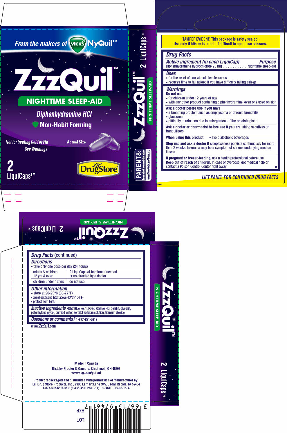 PRINCIPAL DISPLAY PANEL - 2 LiquiCap Blister Pack Carton