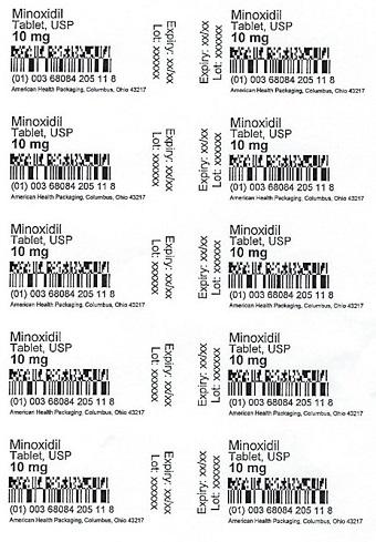 10 mg Minoxidil Tablet Blister