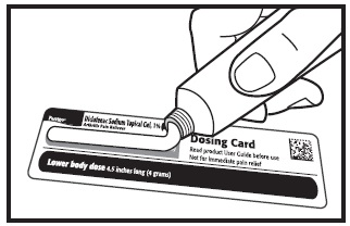 measure using dosing card