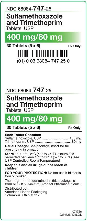 400 mg-80 mg Sulfamethoxazole-Trimethoprim Tablets Carton