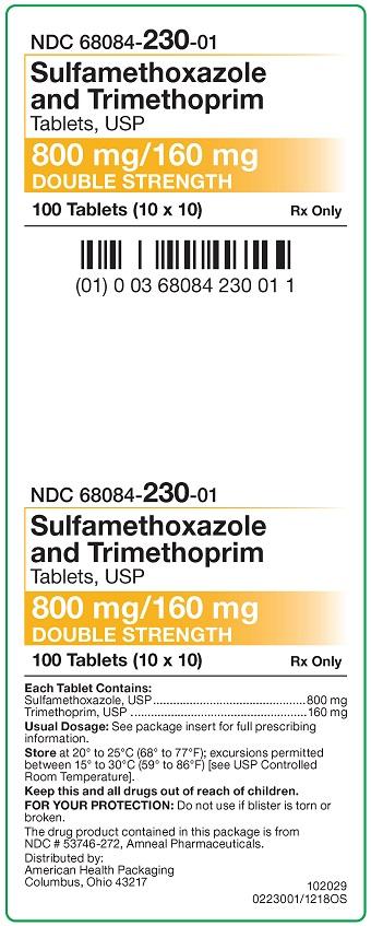 800 mg-160 mg Sulfamethoxazole-Trimethoprim Tablets Carton