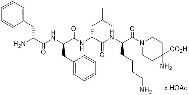 Difelikefalin acetate chemical structure