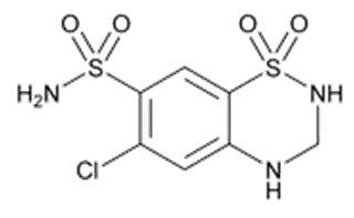 Hydrochlorothiazide Structural Formula