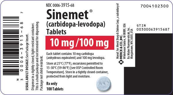 PRINCIPAL DISPLAY PANEL - 10 mg/100 mg Tablet Bottle Label