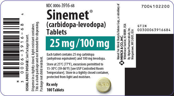 PRINCIPAL DISPLAY PANEL - 25 mg/100 mg Tablet Bottle Label