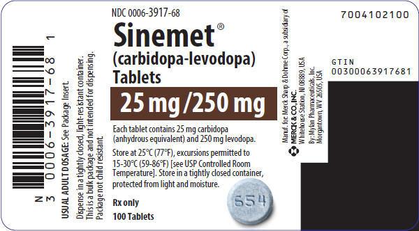 PRINCIPAL DISPLAY PANEL - 25 mg/250 mg Tablet Bottle Label