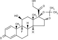 triamcinolone acetonide chemical structure
