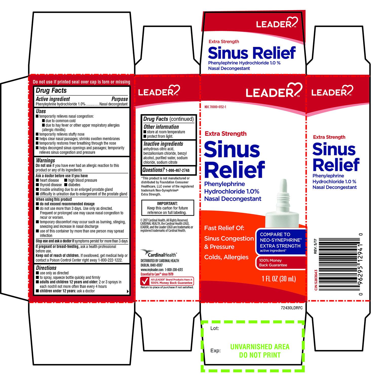 LEADER  Extra Strength Sinus Relief 1 FL OZ