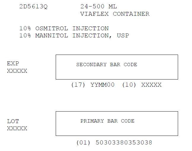 Osmitrol Injection Representative Carton Label  NDC: <a href=/NDC/0338-0353-03>0338-0353-03</a>