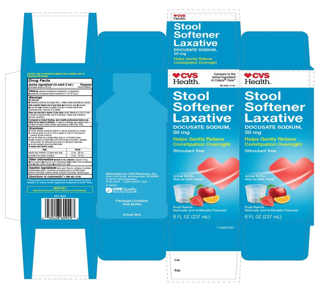 CVS Health Stool Softner Docusate Sodium Fruit Punch