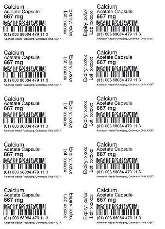 667 mg Calcium Acetate Capsule Blister