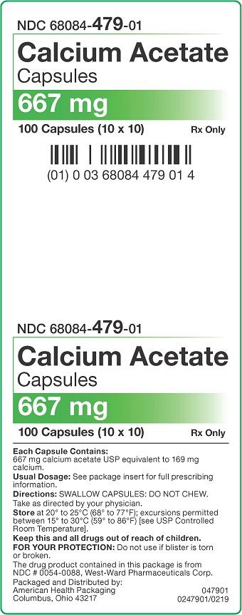 667 mg Calcium Acetate Capsules Carton