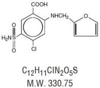 Furosemide Structural Formula