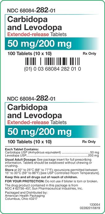 50mg/200mg Carbidopa/Levodopa ER Tablets Carton