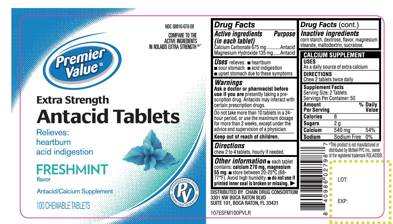 Premier Value Extra Strength Antacid tablets