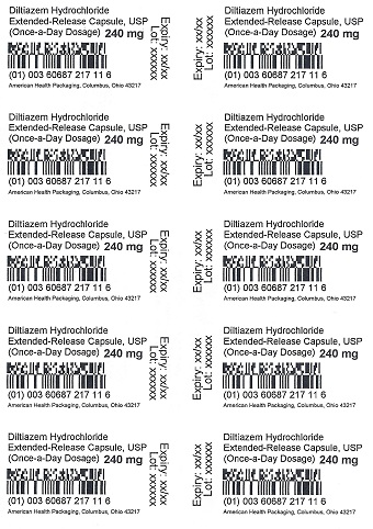 240 mg Diltiazem HCl ER Capsule Blister
