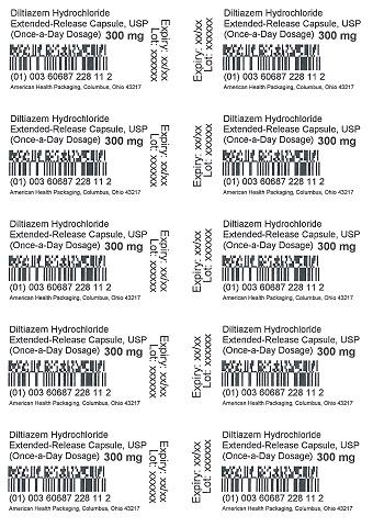 300 mg Diltiazem HCl ER Capsule Blister