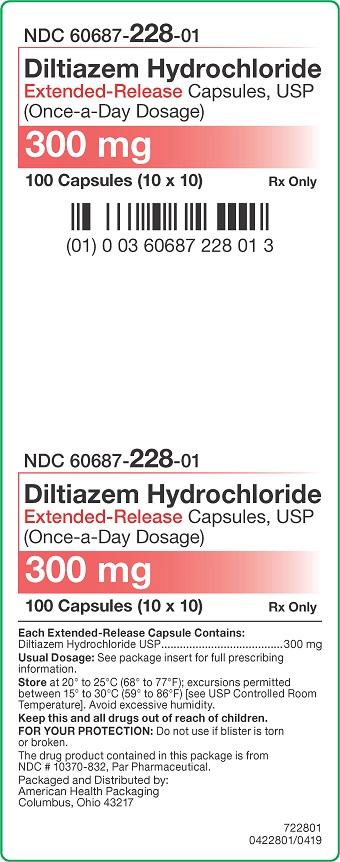 300 mg Diltiazem HCl ER Capsules Carton