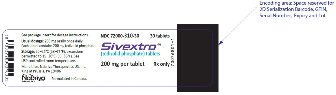 Principal Display Panel - 200 mg Bottle Label