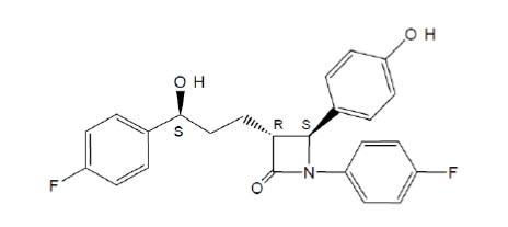 image of ezetimibe chemical structure