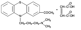 Picture of chemical structure of Acepromazine Maleate, USP.