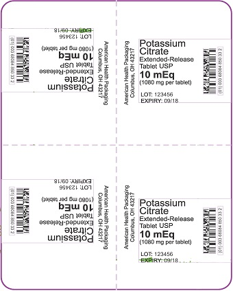 10 mEq Potassium Citrate ER Tablet Blister