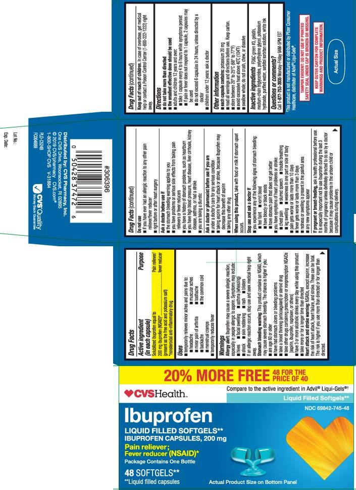 Solubilized ibuprofen equal to 200 mg ibuprofen (NSAID)* (present as the free acid and potassium salt) *nonsteroidal anti-inflammatory drug