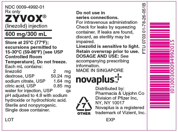PRINCIPAL DISPLAY PANEL -  600 mg/300 mL Overwrap Label