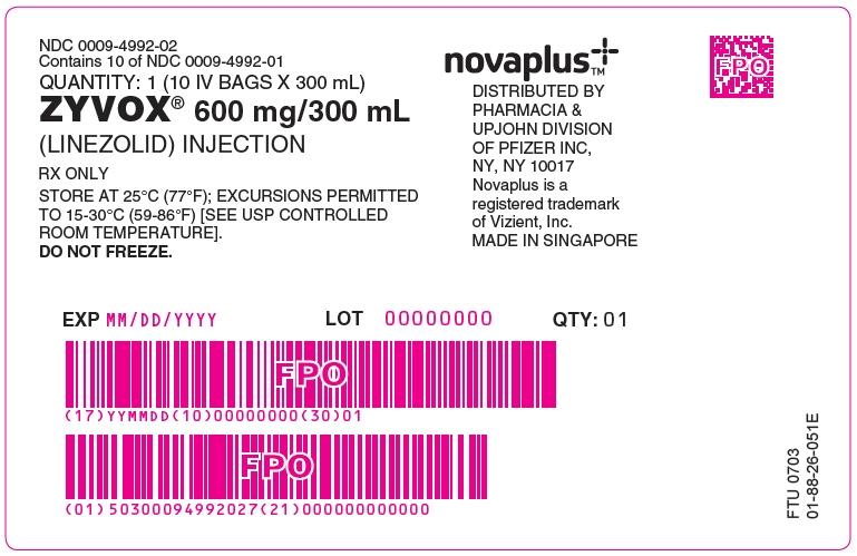 PRINCIPAL DISPLAY PANEL - 600 mg/300 mL Bag Box Label