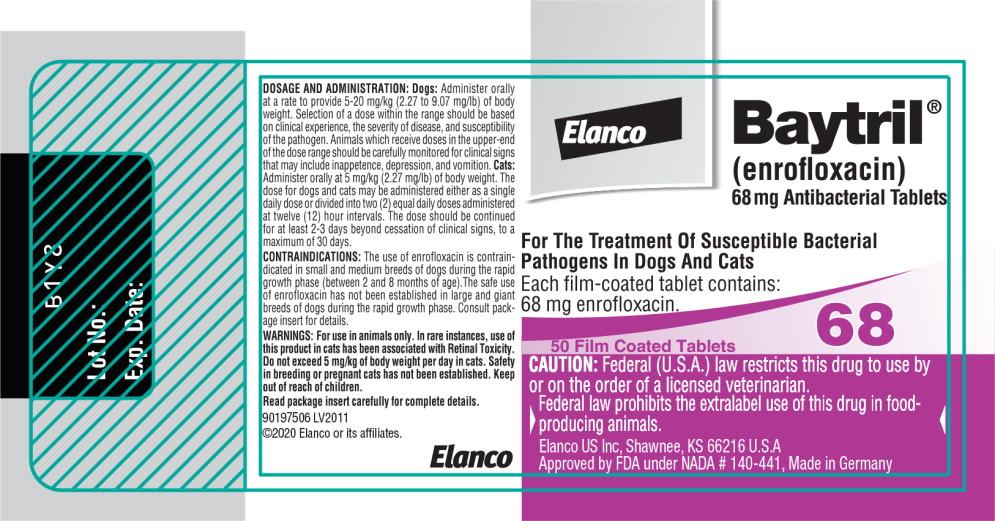 Principal Display Panel - 68 mg Bottle Label