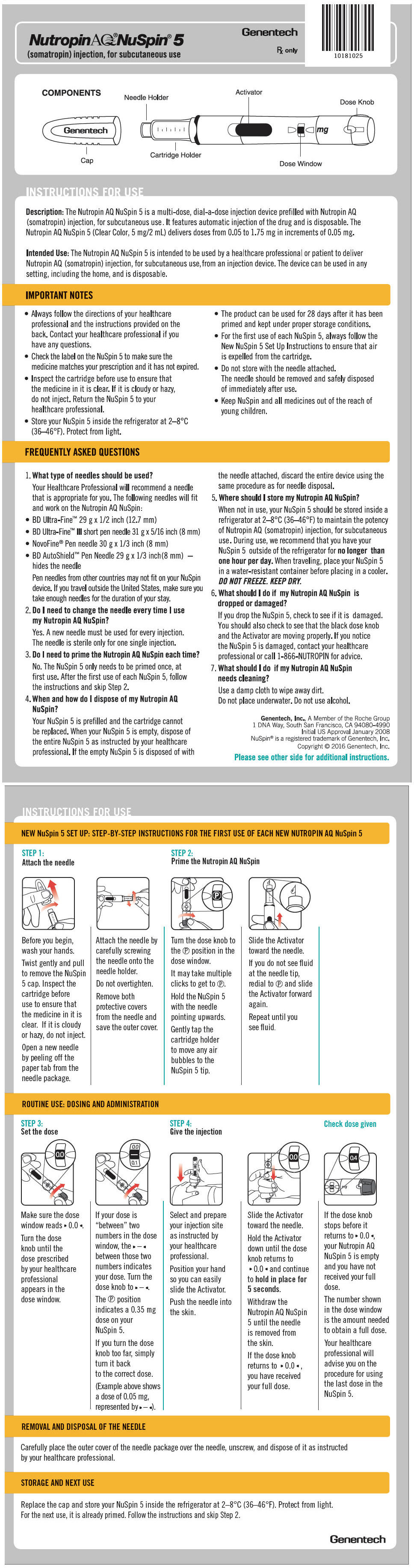 PRINCIPAL DISPLAY PANEL - 5 mg NuSpin IFU