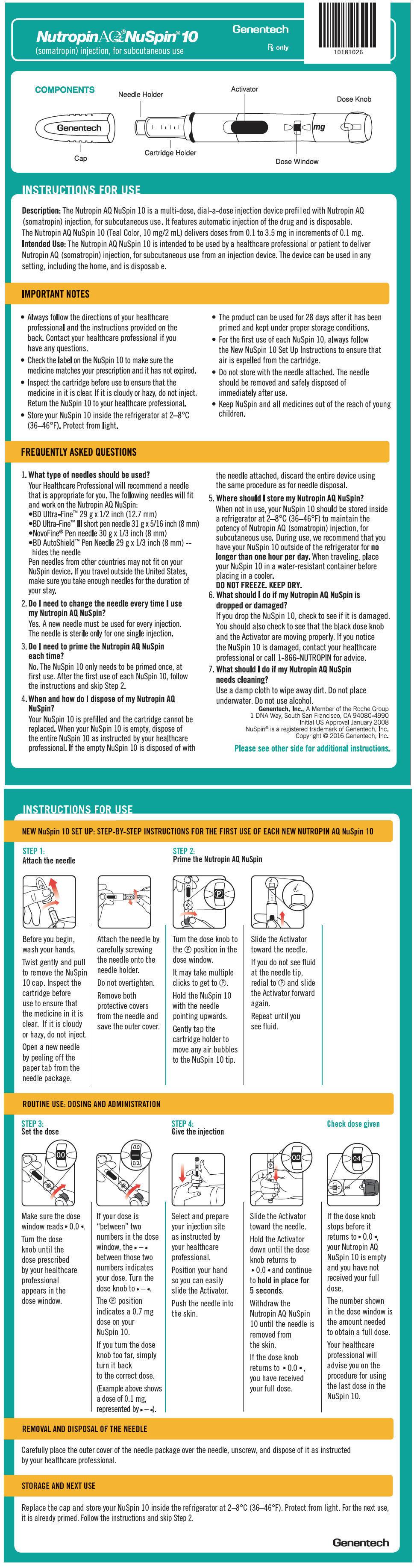 PRINCIPAL DISPLAY PANEL - 10 mg NuSpin IFU