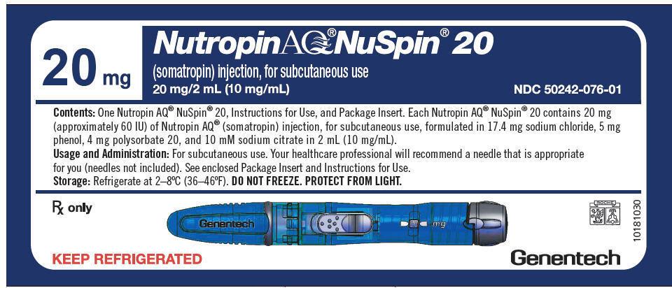 PRINCIPAL DISPLAY PANEL - 20 mg NuSpin Carton