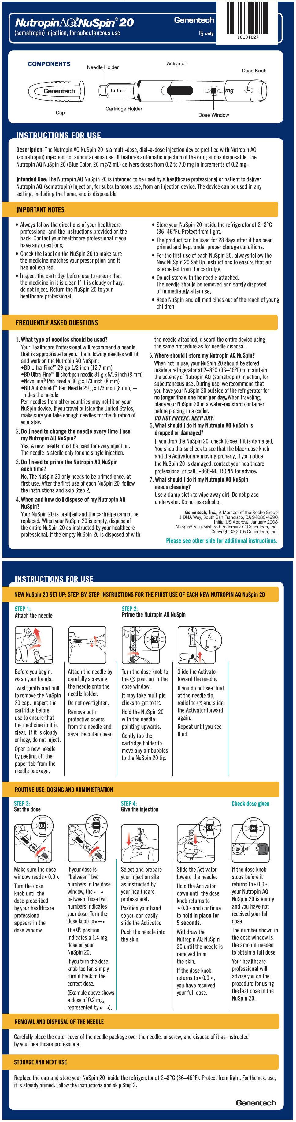 PRINCIPAL DISPLAY PANEL - 20 mg NuSpin IFU