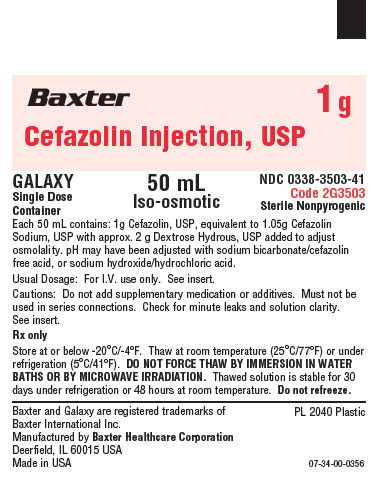 Representative Cefazolin Container Label 0338-3503-41  1 of 2