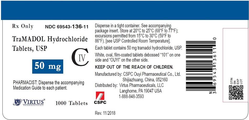 50 mg Tablet Bottle Label