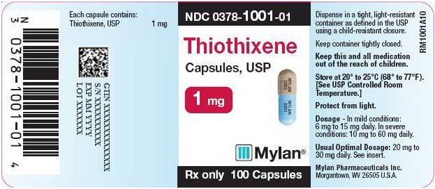 Thiothixene Capsules 1 mg Bottle Label
