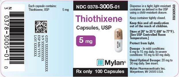 Thiothixene Capsules 5 mg Bottle Label