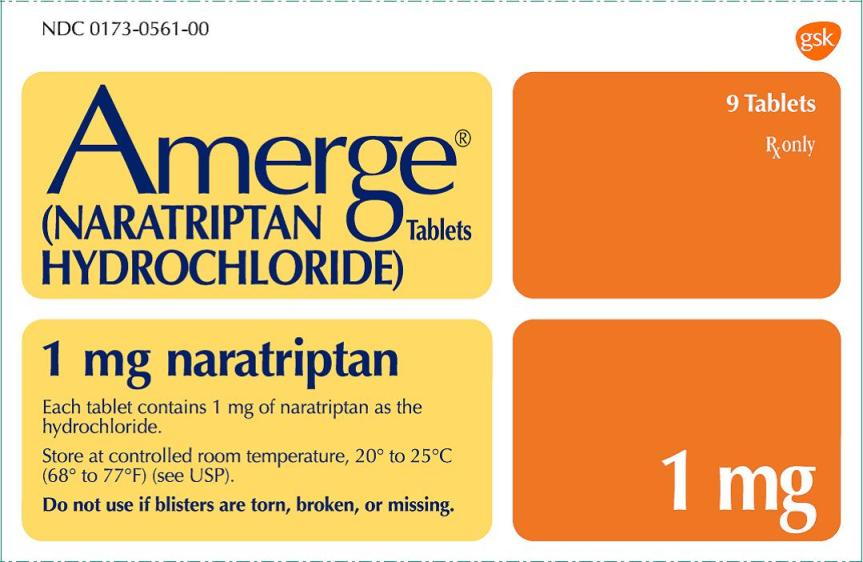 Amerge 1 mg 9 count carton