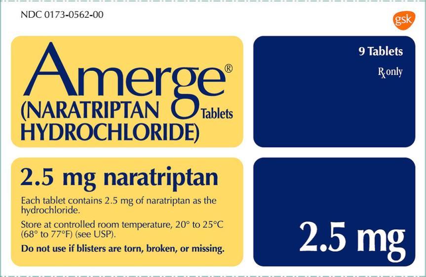 Amerge 2.5 mg 9 count carton