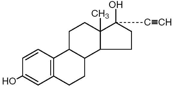 Ethinyl Estradiol chemical formula