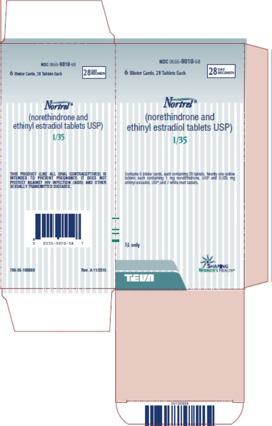 Nortrel® 1/35 (norethindrone and ethinyl estradiol tablets USP) 28 Day Regimen, 6 Blister Cards, 28 Tablets Each Carton, Part 2 of 2