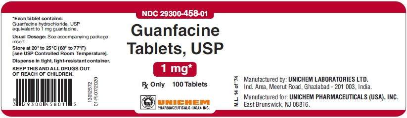 Guanfacine Tablets USP, 1 mg